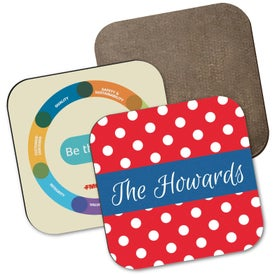 "Hardboard Square Coaster with Full Color Sublimation (3.5"" x 3.5"")"