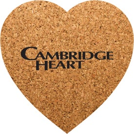 "Heart Shaped Cork Coasters (3.5"" x 3.5"" x 0.125"")"