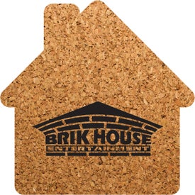 "House Shaped Cork Coaster (3.5"" x 3.5"" x 0.125"")"