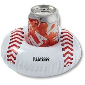 "Inflatable Baseball Beverage Coaster (7"" Dia.)"