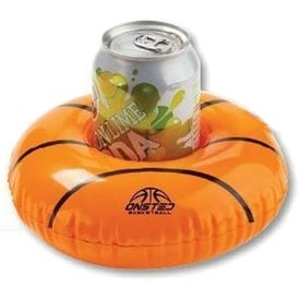 "Inflatable Basketball Beverage Coaster (7"" Dia.)"