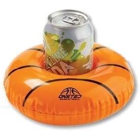 "Inflatable 7"" Basketball Beverage Coaster"
