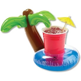 "Inflatable 7"" Palm Tree Lagoon Beverage Coaster"
