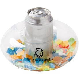 "Inflatable Confetti Filled Coaster (7"" Dia.)"
