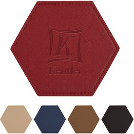 "Leatherette Coasters (4.375"" x 4"")"