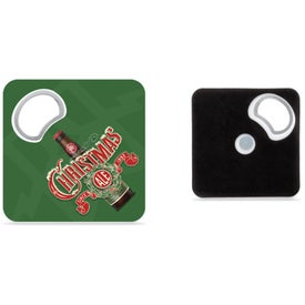 "Magnetic Coaster with Bottle Opener (3.35"" x 3.35"")"