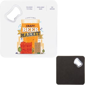"Sturdy Bottle Opener Coaster (4.25"" x 4.25"" x 0.1875"")"