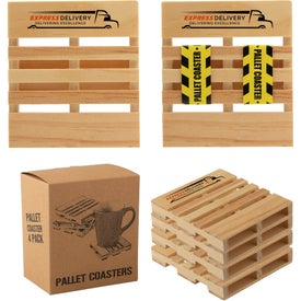 "Pallet Coaster 4 Packs (3.5625"" x 4"" x 0.625"")"