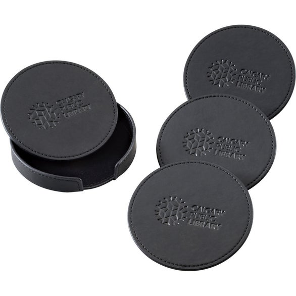 Black Pedova Coaster Set