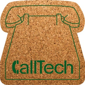 "Phone Shaped Cork Coasters (3.5"" x 3.5"" x 0.125"")"