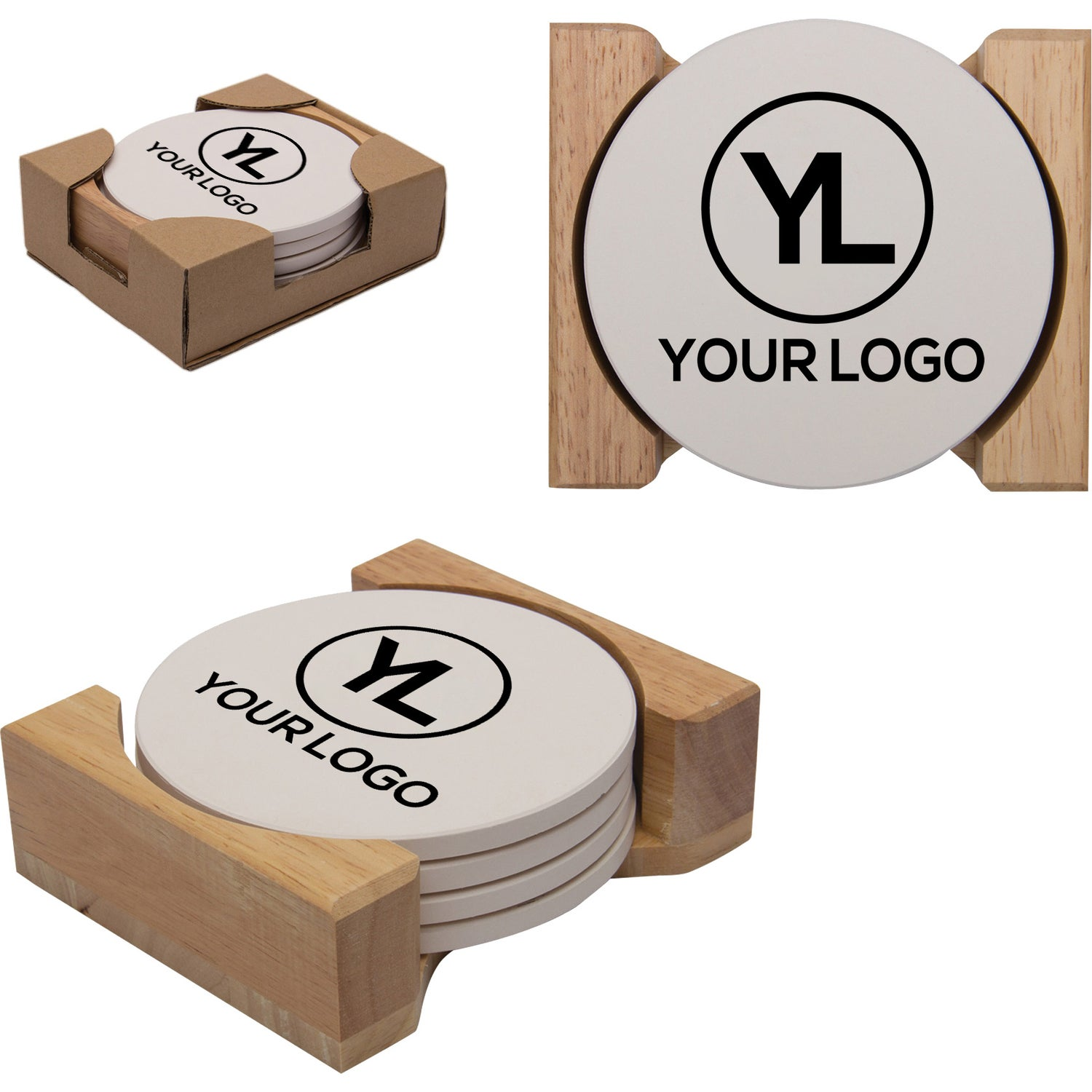 Click Here To Order Round Absorbent Stone Coaster Sets