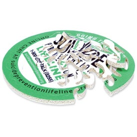 Round Pieceless Puzzle Coaster