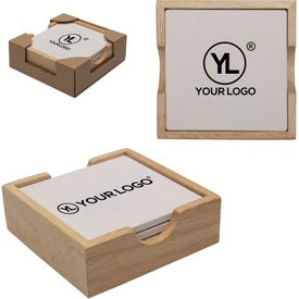 "Square Coaster Set (4.875"" x 4.875"" x 1.625"")"