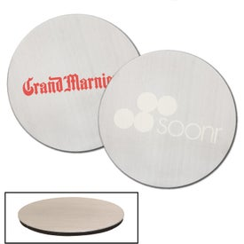 "Stainless Steel Round Beverage Coaster (3.5"" Dia.)"