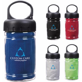 Carabiner Bottle with Cooling Towel