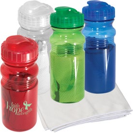 Cooling Towel in Water Bottle (20 Oz.)
