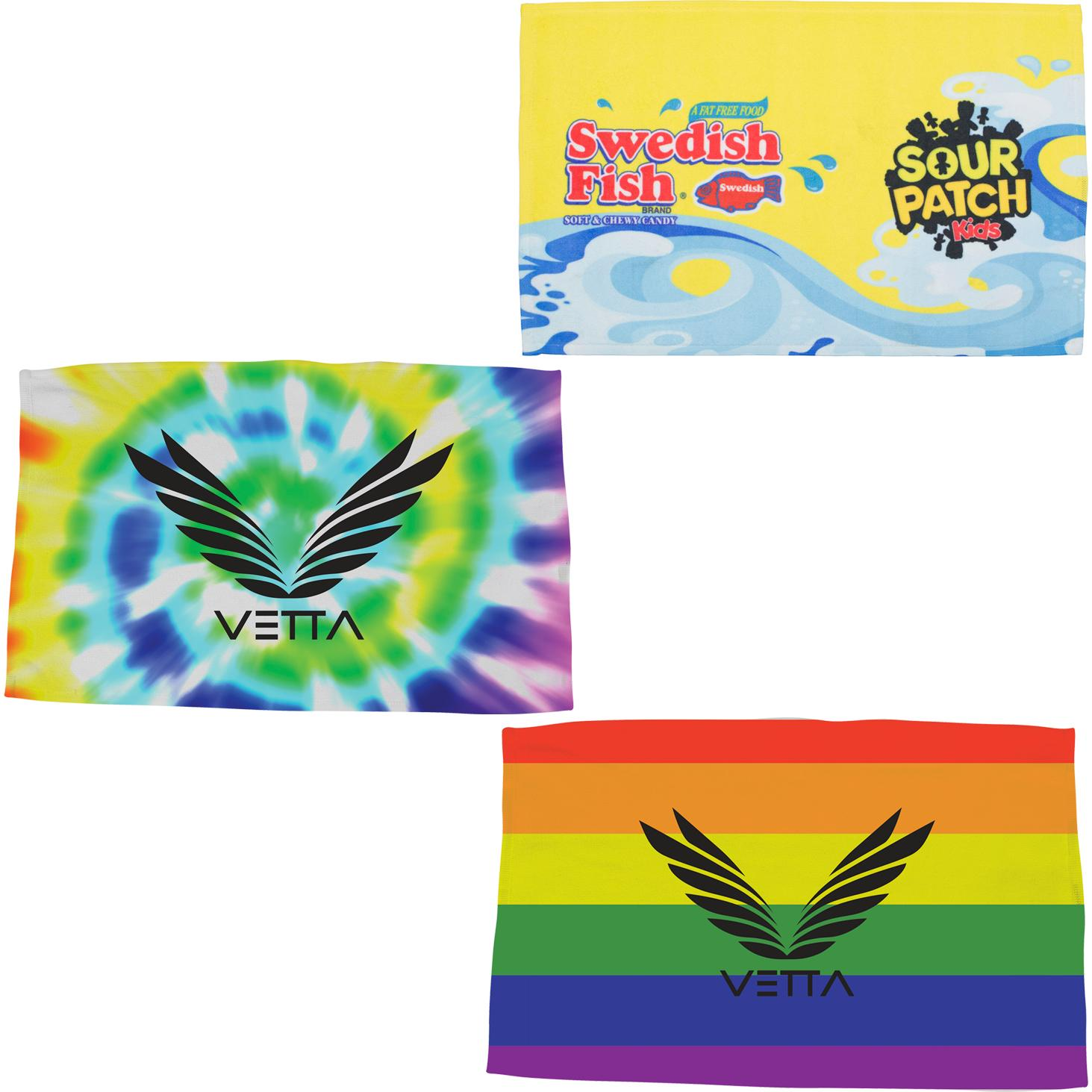 Personalized Spirit Towels: Promotional Spirit Towels With Custom Logo For $5.38 Ea