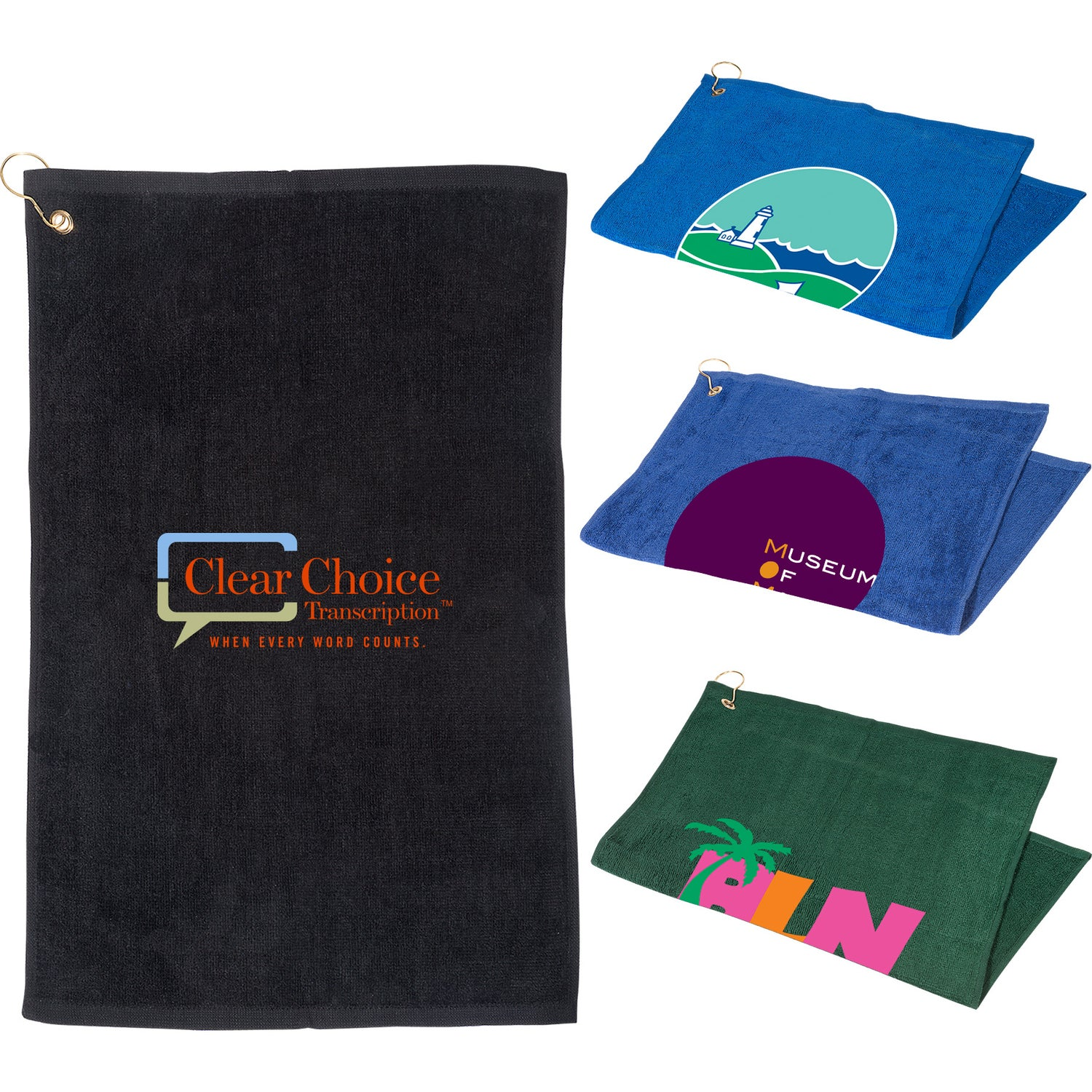 """Golf Towel with Grommet and Hook (16"""" x 25"""")"""