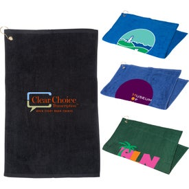 Golf Towel with Grommet and Hooks