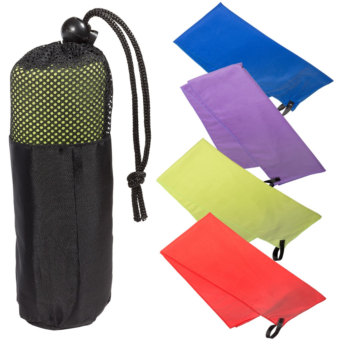 Promotional Microfiber Quick Dry Cooling Towel In Mesh Pouches With Golf Standard Pouch