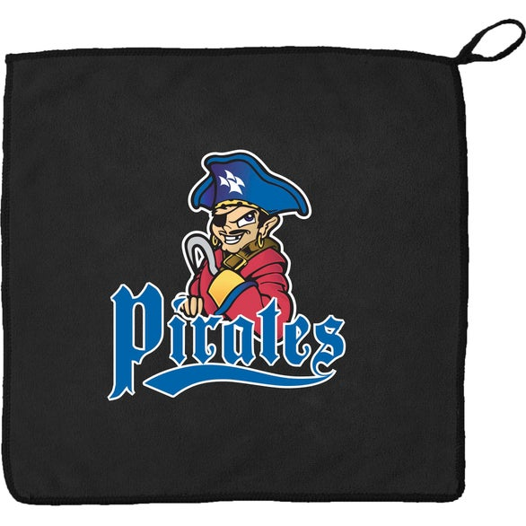 Black Rally Towel