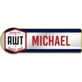 Rounded Rectangle Metal Name Badges