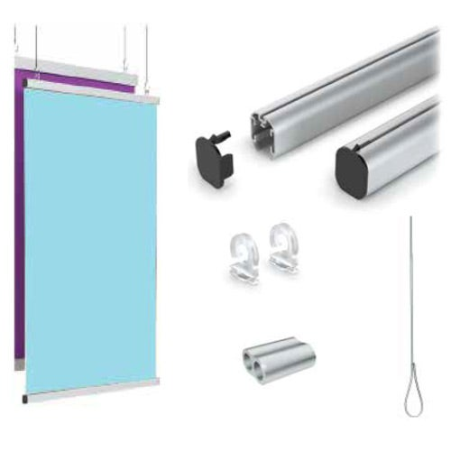 Clear Aluminum Suspended Protective Partitions