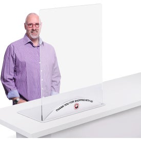 "Clear Acrylic Table Top Sneeze Guard (23.5"" x 31.5"" x 0.125"")"
