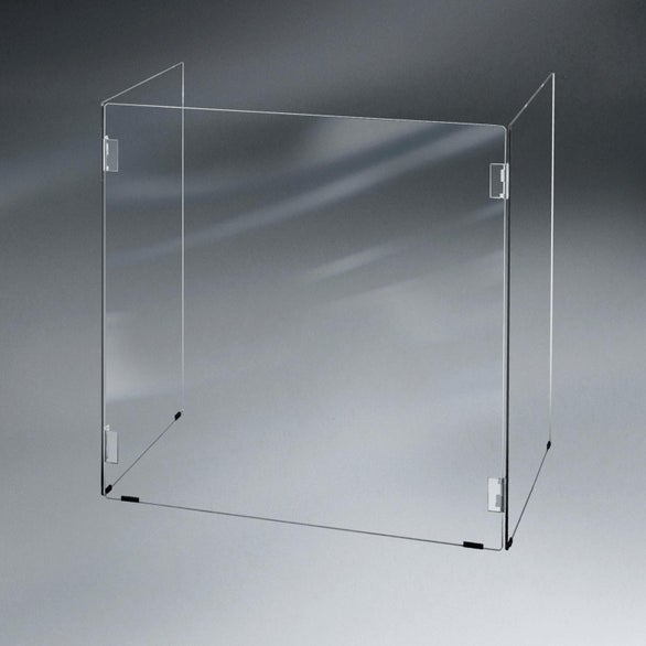 Clear Table Top Hinged Barrier Sneeze Guard