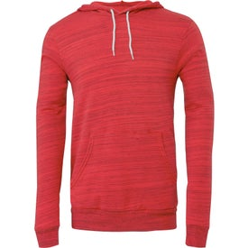 Bella+Canvas Unisex Pullover Fleece Hoodie (Red)