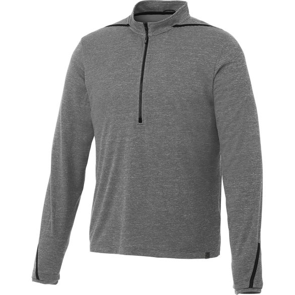 Heather Charcoal / Black Dege Eco Knit Half Zip Pullover by TRIMARK