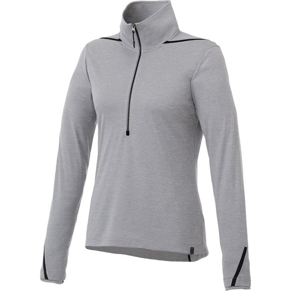 Heather Gray / Black Dege Eco Knit Half Zip Pullover by TRIMARK