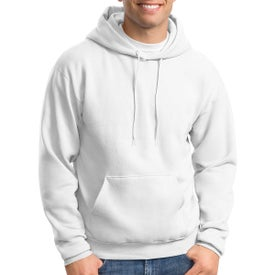 Hanes Ecosmart Pullover Hooded Sweatshirt (Men's, White)