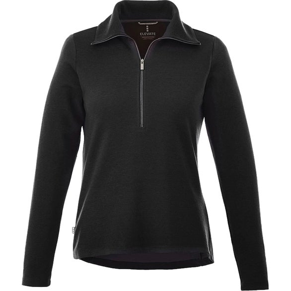 Black Stratton Knit Half Zip Jacket By TRIMARK