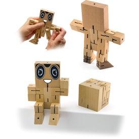 Brain Teaser Wood Puzzle Robot Cube