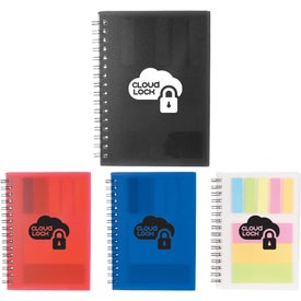 "3"" x 4"" Peppi Spiral Notebook with Sticky Notes"