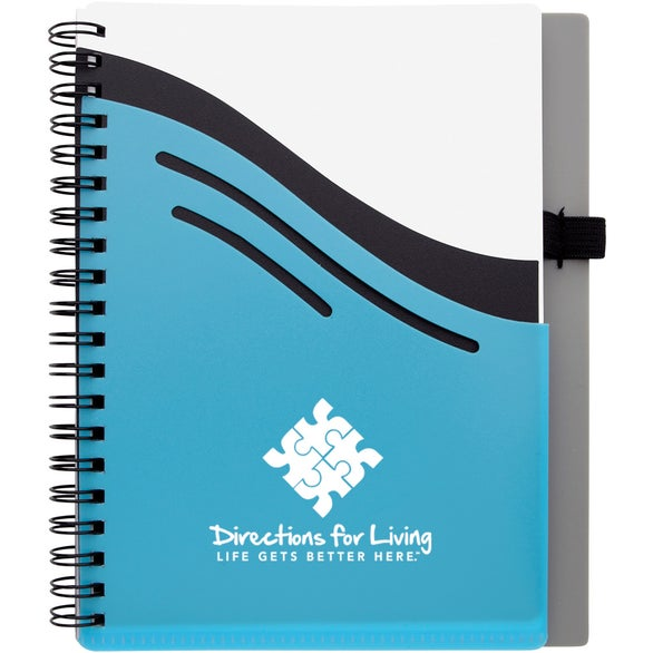 Light Blue / Gray / White Double Dip Notebook