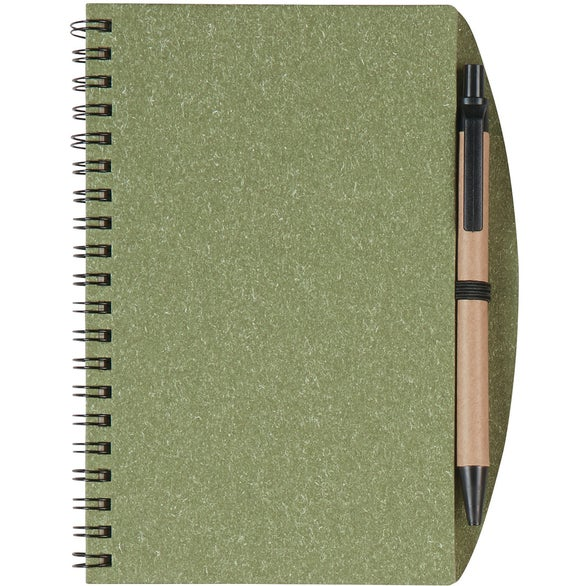 Olive Eco Inspired Notebook and Pen