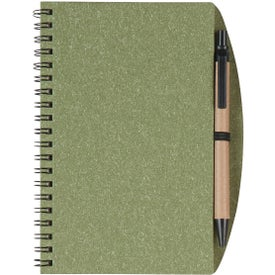 "5"" x 7"" Eco Inspired Spiral Notebook and Pen"