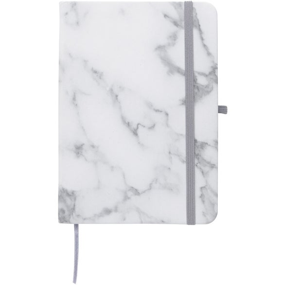 White / Gray Marbled Notebook