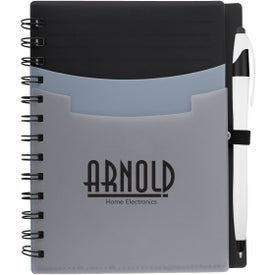 "5"" x 7"" Tri-Pocket Notebook and Pen"