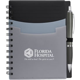 Tri-Pocket Notebook and Satin Pen (35 Sheets)