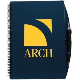 "70 Sheet Board Journal with Pen (5"" x 7"")"