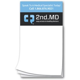 "Magnetic Notepad (0.02"" Thick, 50 Sheets, White)"