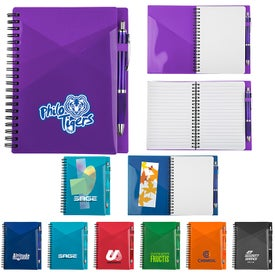 Angled Pocket Notebook with Pen (70 Sheets)