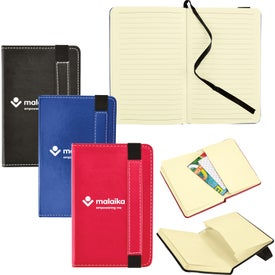"""Bound Journal with Expandable Pocket (3"""" x 5"""")"""