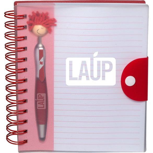 Red Canada Patriotic MopToppers Stylus Pen and Notebook Set
