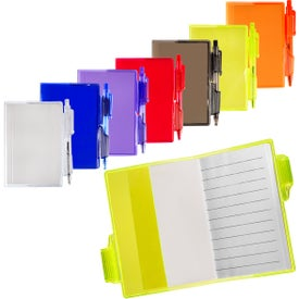 Clear-View Mini Notebook with Pen (80 Sheets)