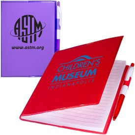 Clear-View Notebook with Pen