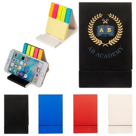 "Duo Sticky Notepad and Phone Stand (300 Sheets, 2.95"" x 4.88"" x 0.31"")"